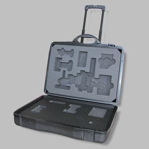 Koffer mit Polster als Trolley